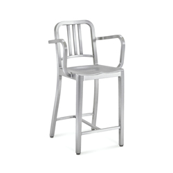 Navy® Counter stool with arms | Taburetes de bar | emeco