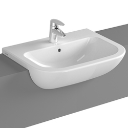 S20 Semi recessed basin, 55 cm | Lavabi | VitrA Bad