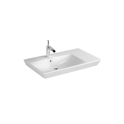 T4 Washbasin asymmetric, 80 cm | Lavabos | VitrA Bad