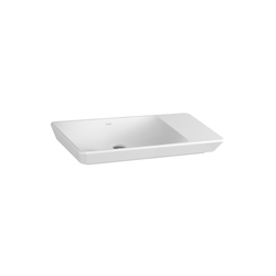 T4 Counter washbasin asymmetric, 80 cm | Lavabos | VitrA Bad