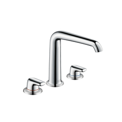 AXOR Bouroullec 3-hole basin mixer 195 with lever handles without pull rod DN15 | Wash-basin taps | AXOR