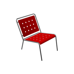 Stella Lounge Chair with four-leg base | Garden armchairs | BURRI