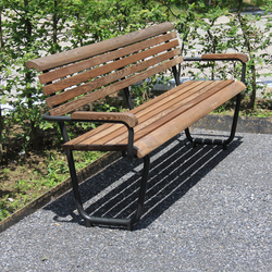 Landi Bench for Senior Citizens in NATWOOD | Exterior benches | BURRI