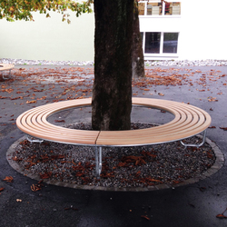 Landi Round Bench without backrest | Bancos de exterior | BURRI