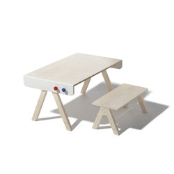 Famille Garage table and bench | Children's area | Richard Lampert