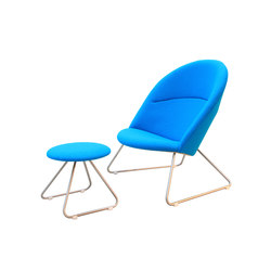 Dennie Chair with Footstool | Poltrone lounge | onecollection
