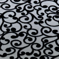 Effects Plata E-425 | blanco y negro | Tissus muraux | Naturtex