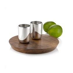 Gleam Shot Tumblers + Maple Cutting Board | Dinnerware | Miranda Watkins