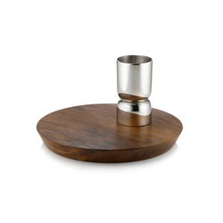 Gleam Shot Measure + Maple Cutting Board | Vajilla | Miranda Watkins