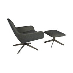 Floyd chair with ottoman | Poltrone lounge | Palau