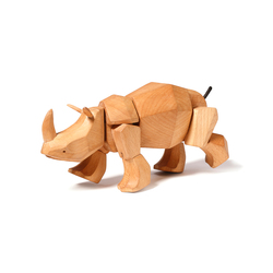 Simus the Wooden Rhinoceros | Giocattoli per bambini | David Weeks Studio