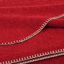 Alina Blanket cranberry | Plaids / Blankets | Steiner