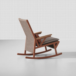 Vieques rocking chair teak armrests | Garden armchairs | KETTAL