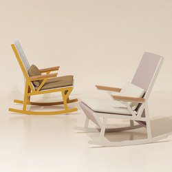 Vieques rocking chair teak armrests | Sessel | KETTAL