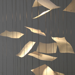 Leaves | Suspended lights | Cordula Kafka