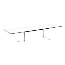 Spinal Table rectangular with extention | Kantinentische | Paustian