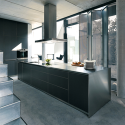 bulthaup b3 monoblock in stainless steel | Fitted kitchens | bulthaup