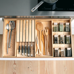 bulthaup b1 drawer components | Kitchen organization | bulthaup