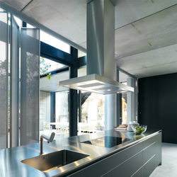 Extractor with stainless steel flat panel | Kitchen hoods | bulthaup