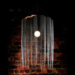 Custom Scalloped Looped 600 Pendant Lamp | Objets lumineux | Willowlamp