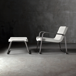 Time Out armchair and stool | Sessel | Serralunga
