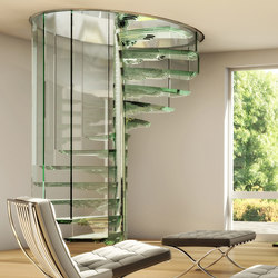Sky Screw | Glass stairs | Siller Treppen