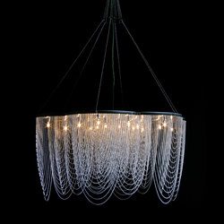 Rose - 700 - suspended - looped | Lámparas de araña | Willowlamp