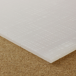 Translucent cast acrylic sheet, textured | Polymers | selected by Materials Council