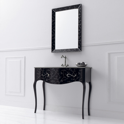 Vivaldi Flowers Black | Vanity units | FIORA