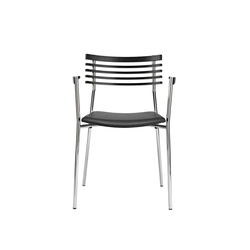 Rail chair with armrests | Visitors chairs / Side chairs | Randers+Radius