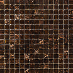 Aurore 20x20 Marrone | Glass mosaics | Mosaico+
