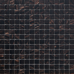 Aurore 20x20 Testa di Moro | Glass mosaics | Mosaico+