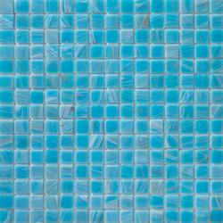 Aurore 20x20 Turchese | Mosaïques verre | Mosaico+