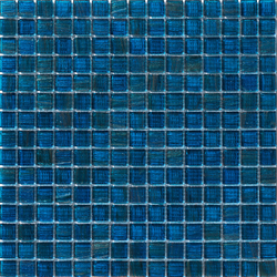 Aurore 20x20 Petrolio | Glass mosaics | Mosaico+