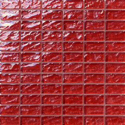 Onde 23x48 Rosso R | Mosaïques verre | Mosaico+