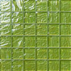 Onde 48x48 Verde Q | Mosaici vetro | Mosaico+