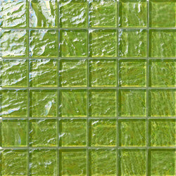 Onde 48x48 Verde Q | Mosaïques | Mosaico+
