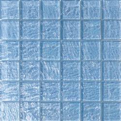 Onde 48x48 Azzurro Q | Glass mosaics | Mosaico+