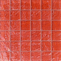 Onde 48x48 Rosso Q | Mosaïques en verre | Mosaico+