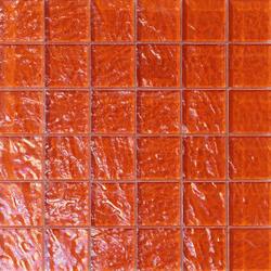 Onde 48x48 Arancio Q | Glas Mosaike | Mosaico+