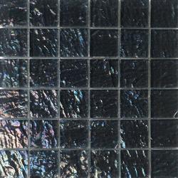 Onde 48x48 Antracite Q | Glass mosaics | Mosaico+