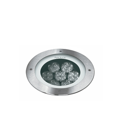 Inground 260 front ring flush with ground | Outdoor recessed floor lights | Arcluce