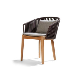 Mood Dining Chair | Teak | Sièges de jardin | Tribù