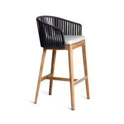 Mood Bar Chair | Teak | Garten-Barhocker | Tribù