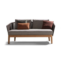 Mood Outdoor Sofa | Teak | Gartensofas | Tribù