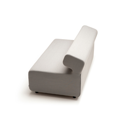 Up 2-Seater with backrest | Elementos asientos modulares | Fora Form