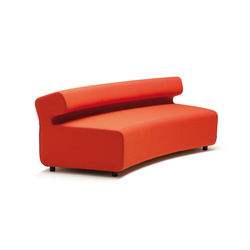 Up 3-Seater curved with backrest | Modular seating elements | Fora Form