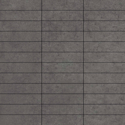 Mosaico Rectangular Ruhr Plomo | Keramik Mosaike | VIVES Cerámica