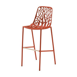 Forest barstool high backrest | Sgabelli bar | Fast