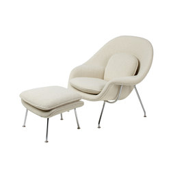 Saarinen Fauteuil & Ottoman Womb | Fauteuils | Knoll International